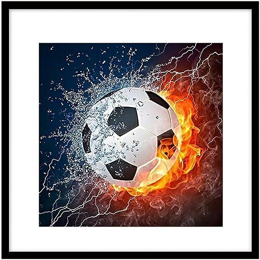 5D DIY - Cuadro de punto de cruz, diseño de balón de fútbol ...