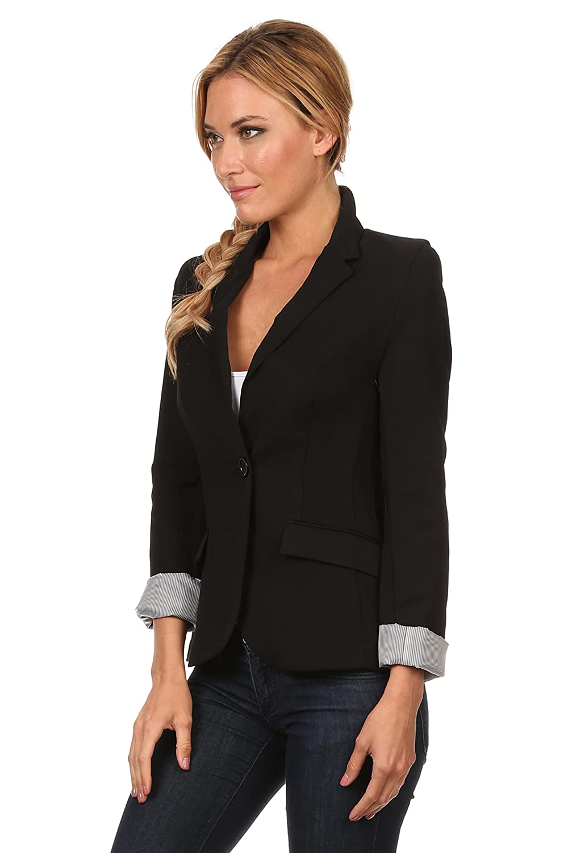 5b9e60be14 Boyfriend Blazer Jacket for Women Black, Red, White Blazers Long Sleeve Reg  & Plus at Amazon Women's Clothing store: