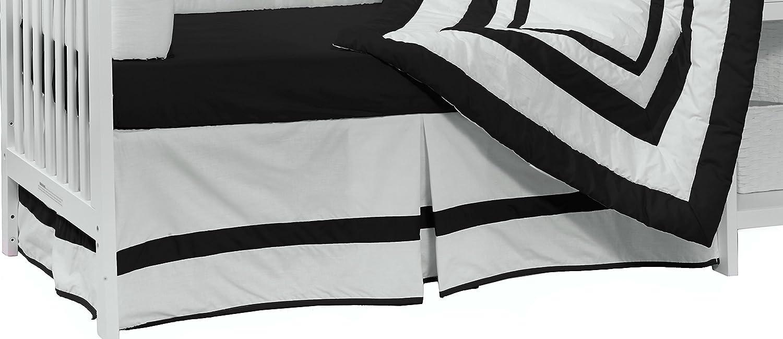 BabyDoll Bedding Modern Hotel Style Crib Dust Ruffle, Black baby doll bedding 1250dr-black