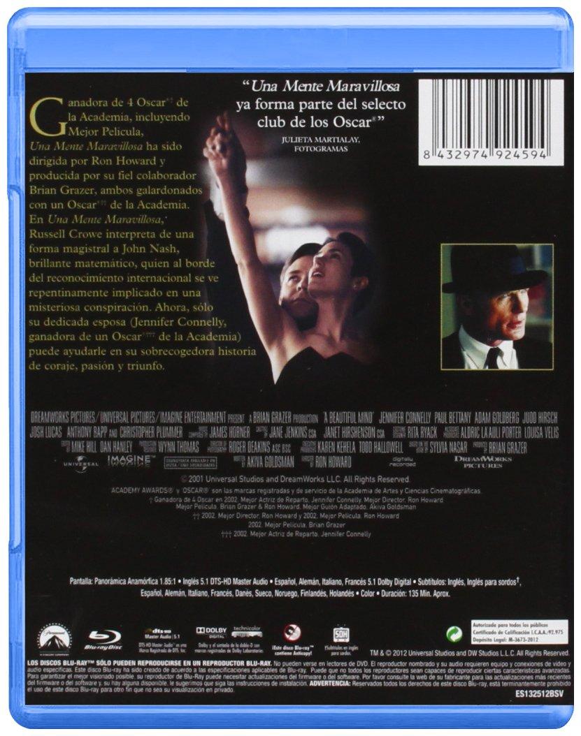 Una Mente Maravillosa [Blu-ray]: Amazon.es: Harris, Ed, Crowe ...