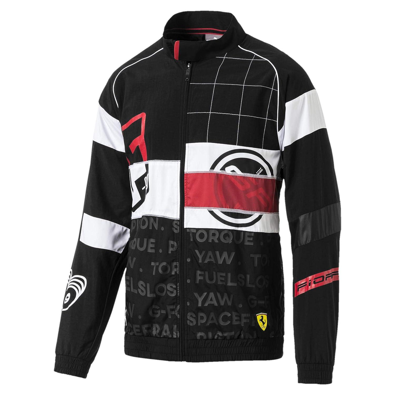 Puma Black L Puma Ferrari Street Woven Men's Jacket