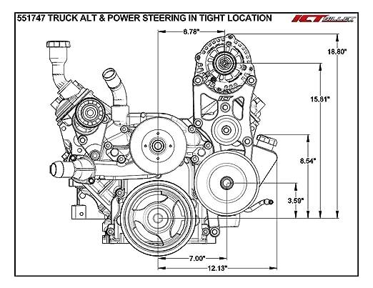 Amazon Com Ls Oem Location Truck Alternator Tight Power Steering