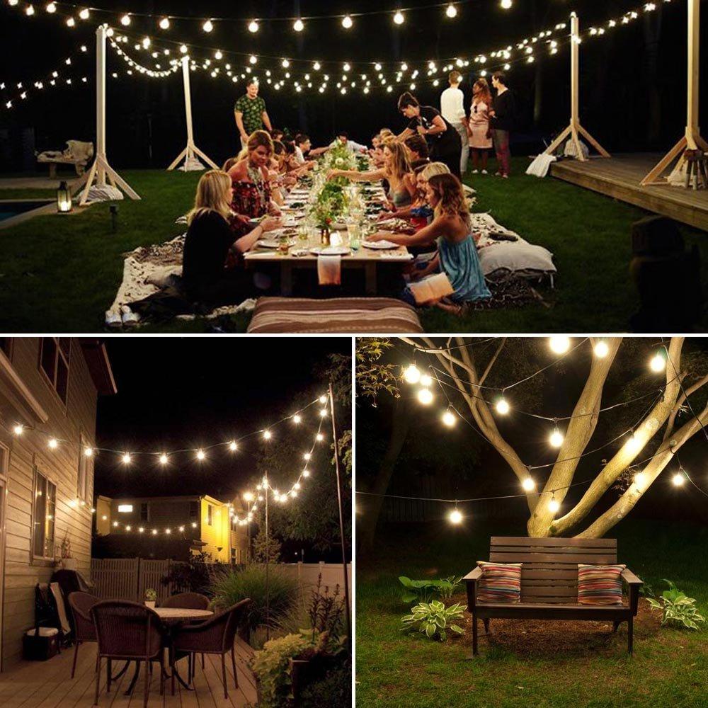 Qedertek Solar String Lights, 20ft 30 LED Outdoor Solar Lights, 8 ...