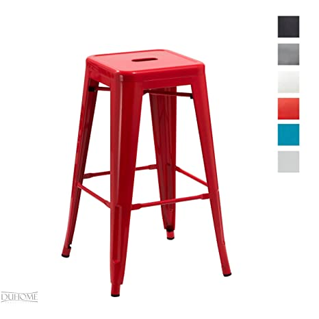 Awe Inspiring Duhome Metal Iron Bar Stool Red Chair Stackable Industry Design Colour Selection 665D Andrewgaddart Wooden Chair Designs For Living Room Andrewgaddartcom