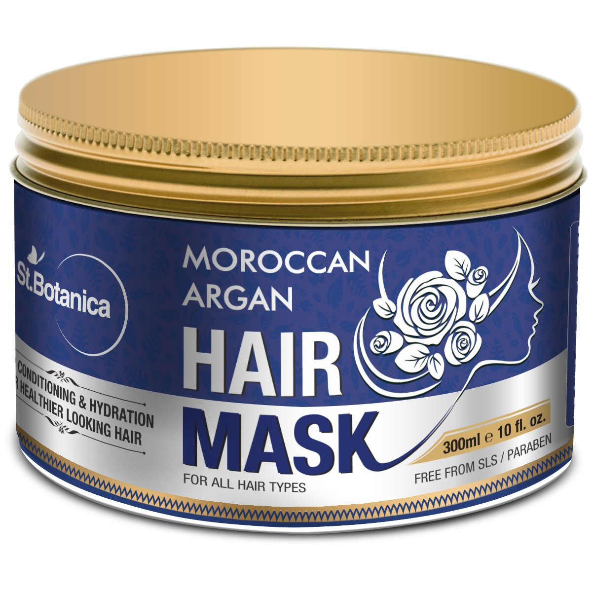 Stbotanica Moroccan Argan Hair Mask - Deep Conditioning &