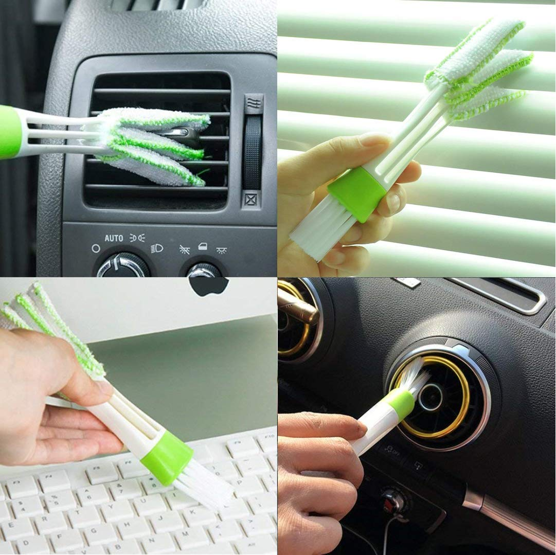 Drawers,Pets,Air Vents. 2PCS Dusty Brush Vacuum Attachment Tiny Tubes Dust Cleaning Sweeper Vacuum Attachments Master Duster Cleaning Tool Flexible Access to Car,Corners,Keyboards