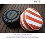 FBTS Prime Outdoor Inflatable Ottoman Orange and