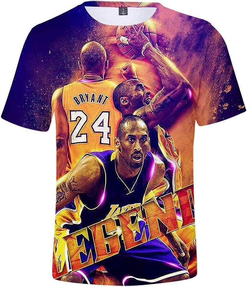 Kobe Bryant Stampa Maglietta T-Shirt pap/à hengGuKeJiYo T-Shirt da Uomo Felpa da Basket per Regalo di Compleanno per Bambini