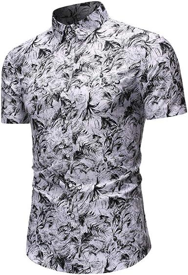 Camisa De Manga Corta Hawaii Summer Men Men Simple Joker Top A9: Amazon.es: Ropa y accesorios