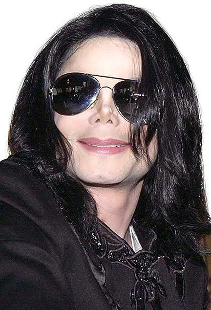 24d6bc4fe0714 Amazon.com  Michael Jackson Licensed Adult Wig   Glasses Set 51917  Clothing