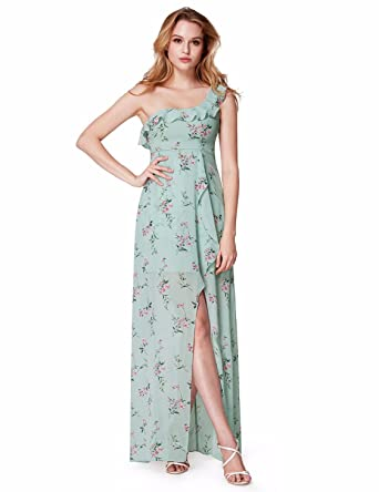 77390acc01 Ever-Pretty Floor Length Chiffon Party Dresses for Women 4 US Mint Green
