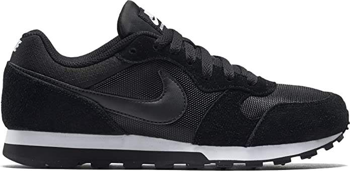 Nike Wmns Md Runner 2, Zapatillas Mujer, Negro (Black / Black-White), 40