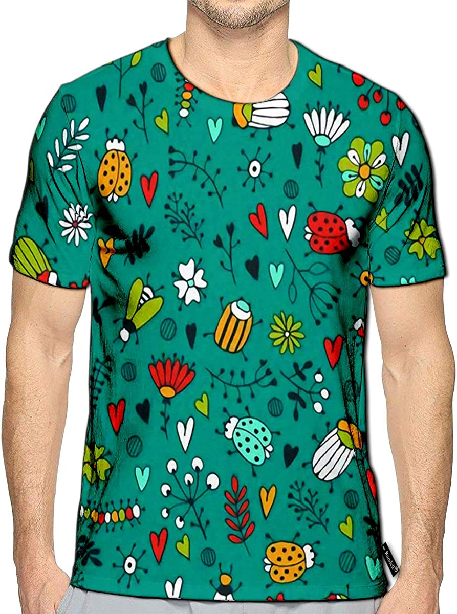 Randell 3D Printed T-Shirts Beautiful Romantic of Tree with Swing Sketch Short Sleeve to