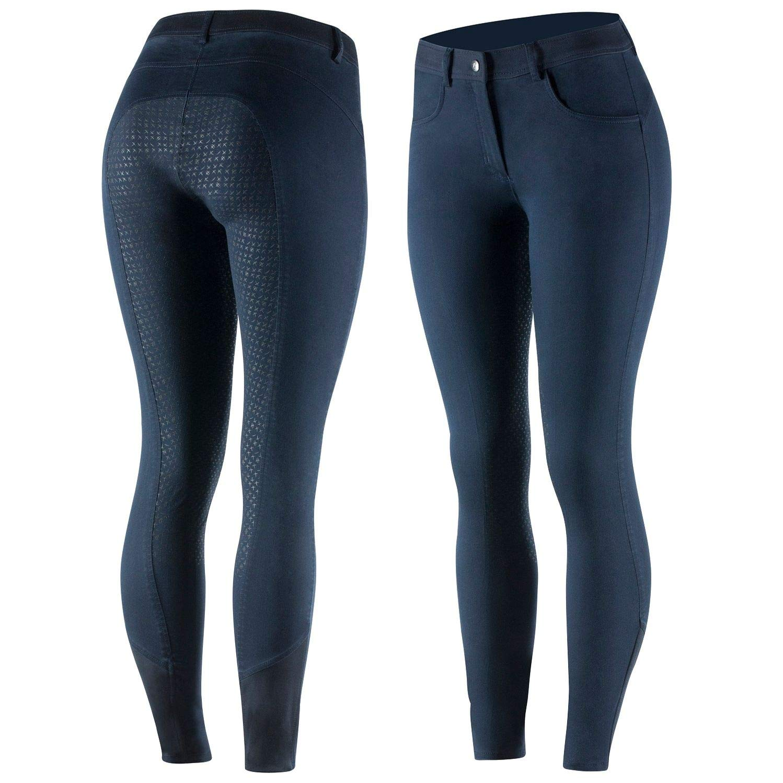 Netproshop Damen Reithose im Jeans-Style Jeans-Style Jeans-Style mit Hohem Bund und Silikon-Vollbesatz B07PM6NVSK Reithosen Primäre Qualität 6be823