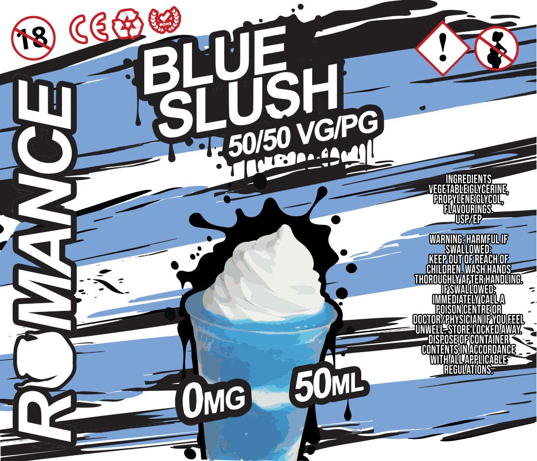 Romance e Liquid Vape Juice 10 fantásticos sabores ricos 50ML 0MG 50/50 PG/VG, sin nicotina (Blue Slush): Amazon.es: Salud y cuidado personal
