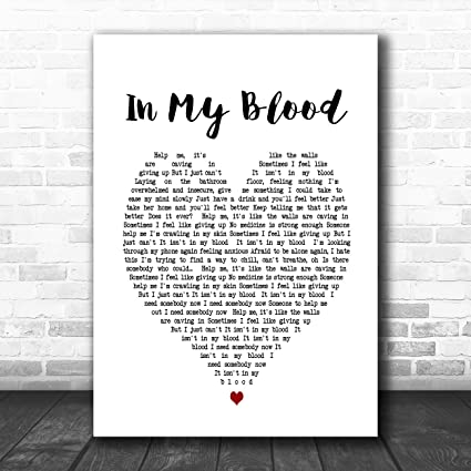 Bleeding Love Heart Song Lyric Quote Print