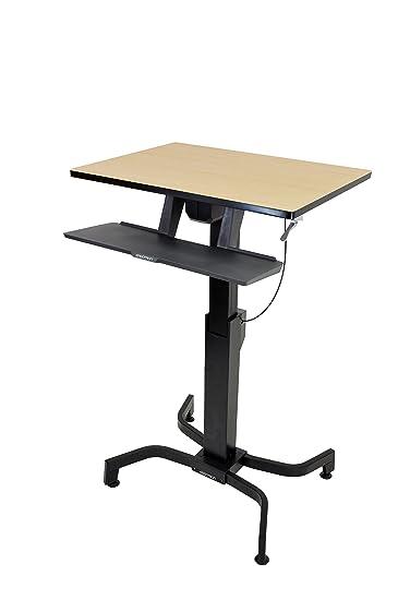 Amazoncom 2RC2303 Ergotron WorkFitPD SitStand Desk Birch