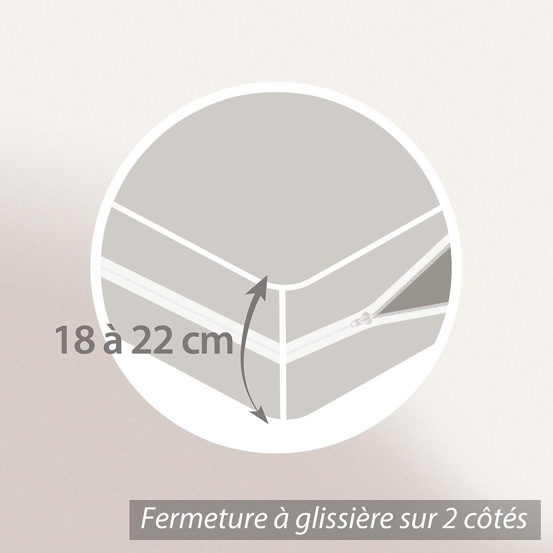 Coprimaterasso Rubens 70/x 190/cm per materassi da 18/a 22/cm Linnea