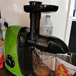 CIRAGO Licuadora Prensado en Frio, Fruta y verdura, Extractor de zumos con Función inversa,exprimidor con 2 Niveles de Velocidad, fácil de Limpiar, Motor silencioso ...