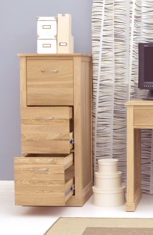 mobel oak 3 drawer filing cabinet brown baumhaus amazon de kuche haushalt