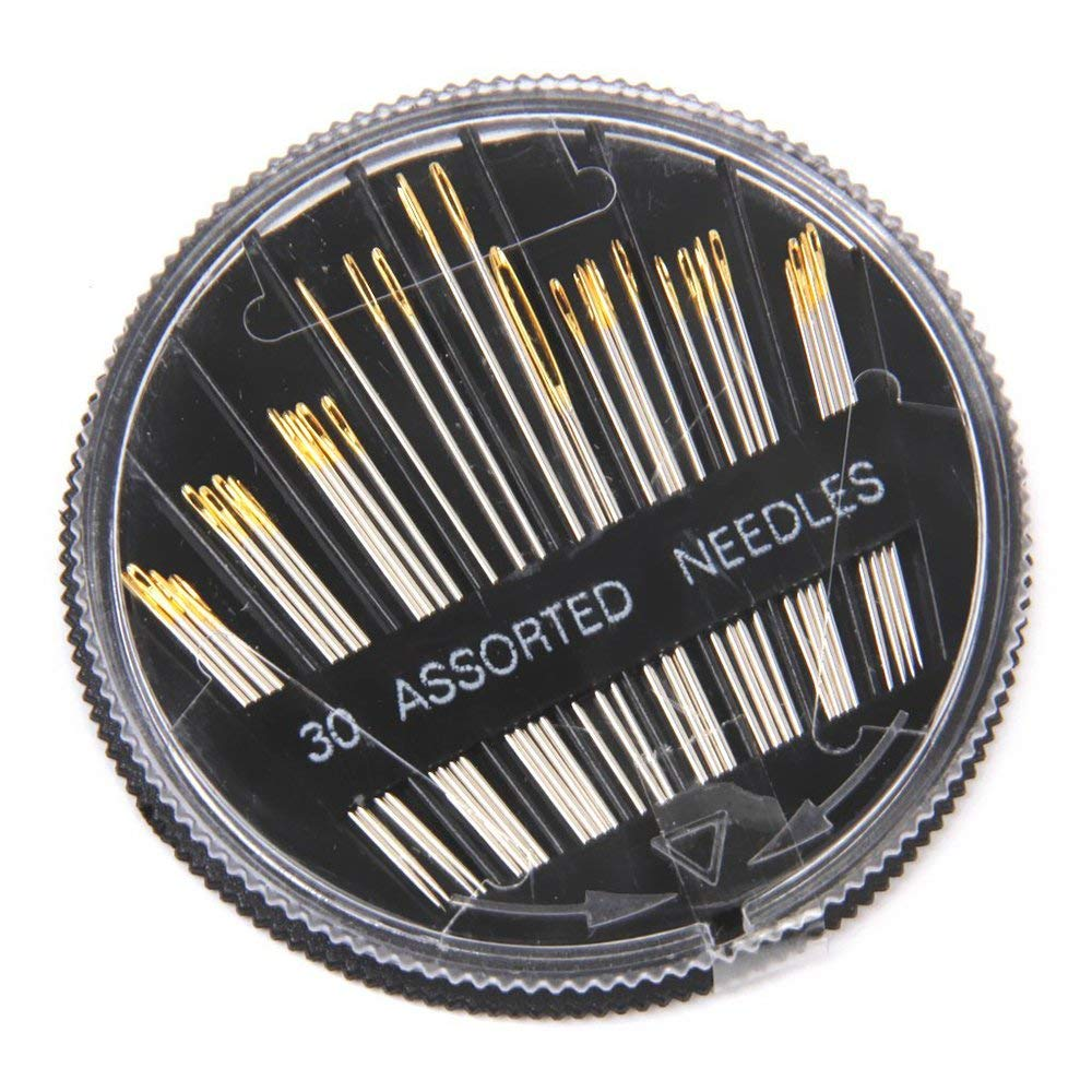 Yevison Premium Quality 30pcs Assorted Hand Sewing Needles Embroidery Darning Quilt Craft Sewing Needles with Case by Yevison
