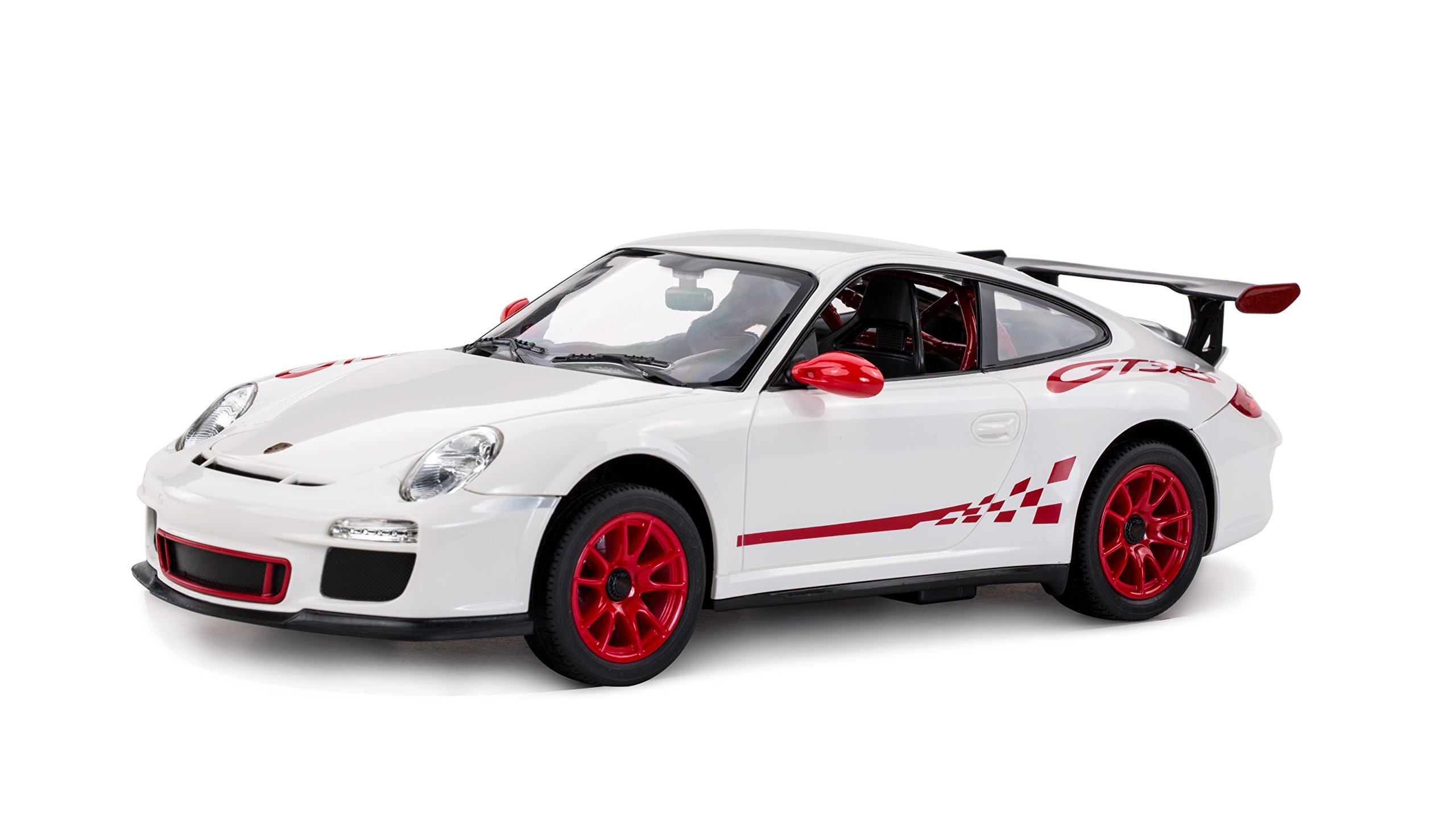 RASTAR 1:14 Scale Porsche GT3 with 2.4 GHz Remote and Rechargeable Batteries - White