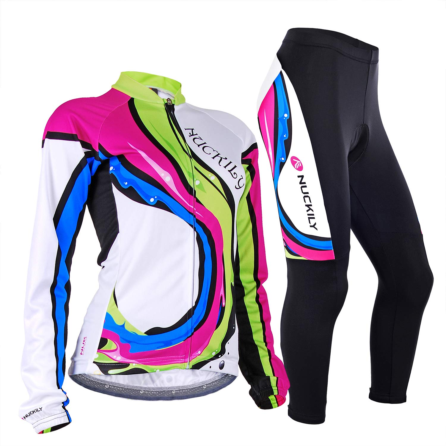 nuckily Women Cycling Jersey Suit Winter Custom Sportswear Thermal Cycle Pants with Bike Jersey Sets FO SHAN NUCKILY SPORT PRODUCTS CO. LTD