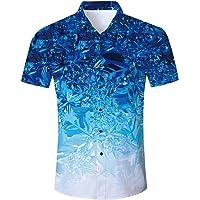 AIDEAONE Camisa hawaiana de manga corta para hombre
