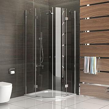 Cuarto circular (Cristal ESG Diseño Ducha de cristal (cabina de ducha con cristal los arañazos Mampara de 90 x 90 x 200 redondo ducha: Amazon.es: Bricolaje y herramientas