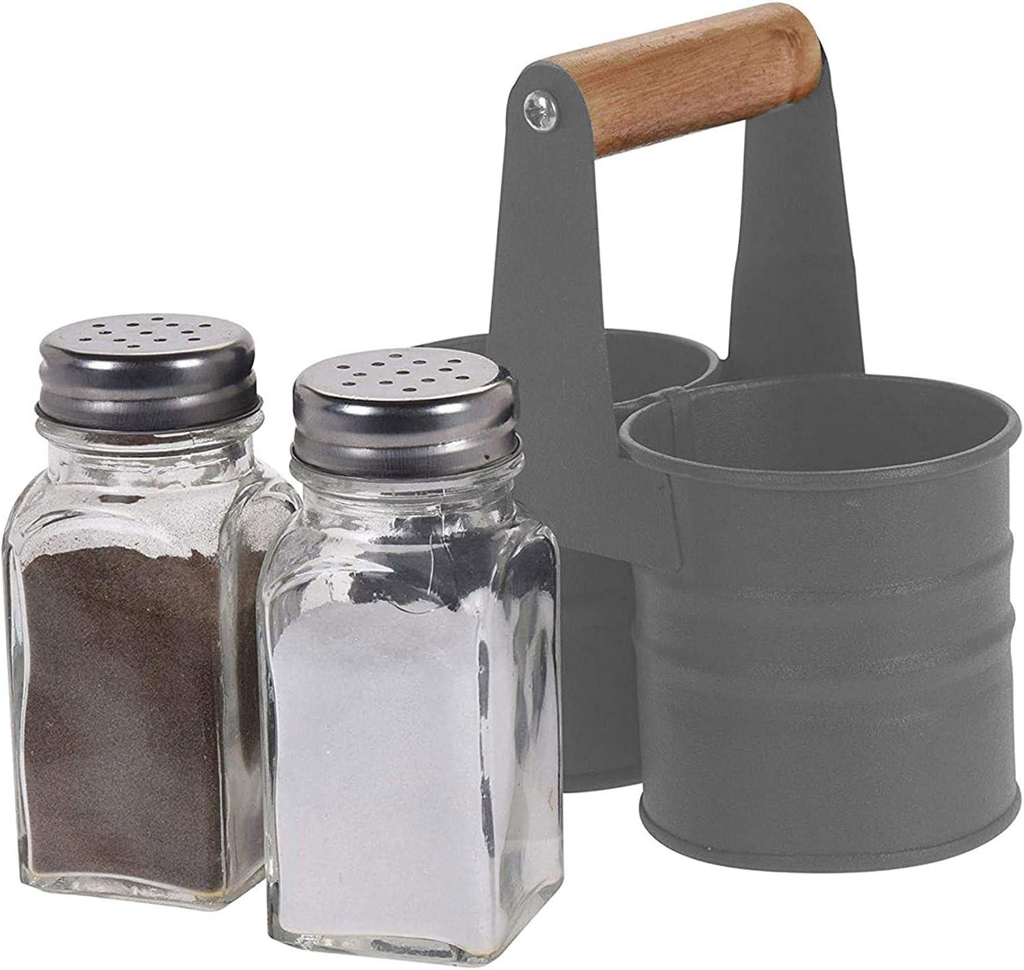 Salz-Und Pepiera con Supporto Menage Saliera Barattolo per le Spezie Decorazione Tavolo