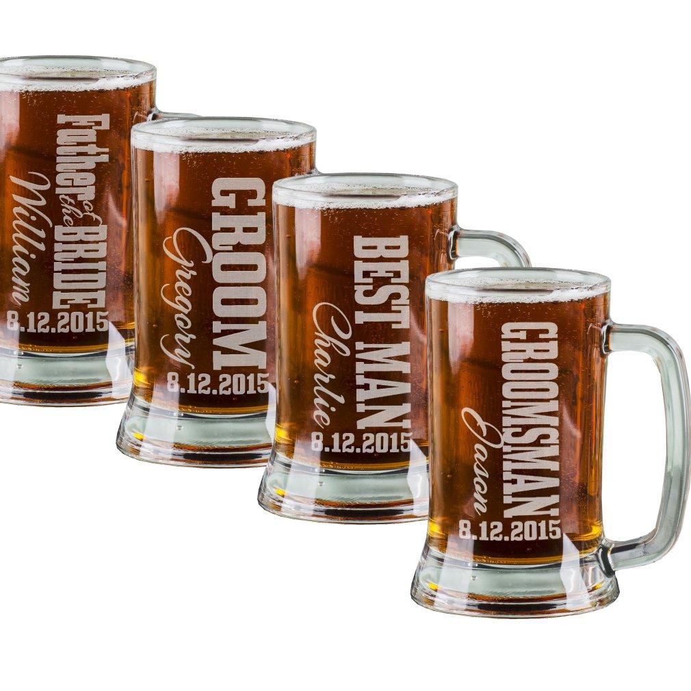 Amazon 16 Oz Best Man Engraved Beer Mug Wedding Party Gifts