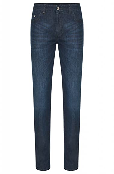 Hugo Boss Herren Jeanshose, Blau - Blau - Größe: 36/34
