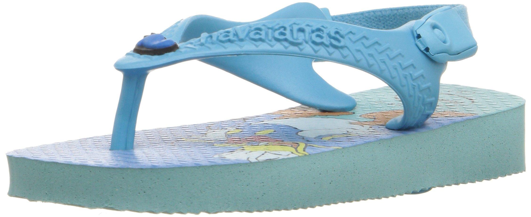Havaianas Kids Flip Flop Sandals, Disney Classics, Donald Duck, Ice Blue ,Ice Blue,21 BR (7 M US Toddler)
