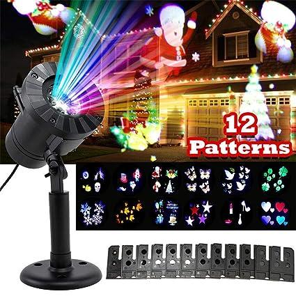 Proyector Luces de Navidad Al Aire Libre Impermeable Láser ...