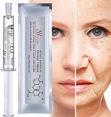 Posional Proteínas de Seda Hialurónico ácido Líquido para el Cuidado de la Piel Hidratante Anti Arrugas Anti Envejecimiento Crema de Colágeno Esencia ...