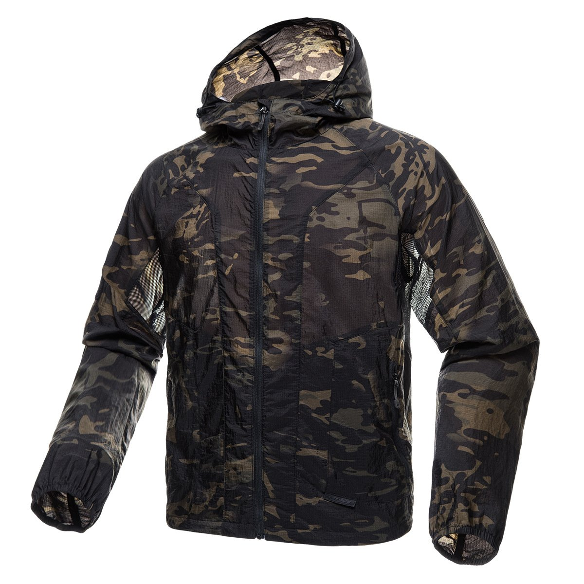 FREE SOLDIER Men's Tactical Jacket Lightweight Wind Breaker Jacket Water-Resistant Breathable Hiking Cycling Jacket (Dark Camo, S) by FREE SOLDIER