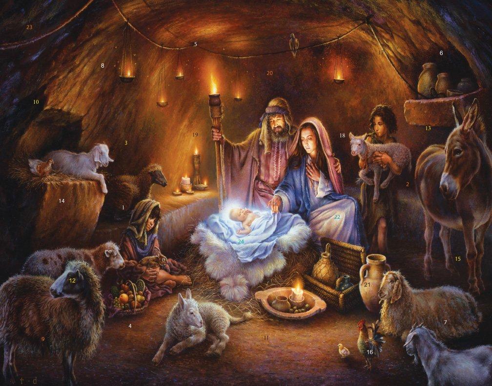 No Room at the Inn Advent Calendar Vermont Christmas Company FBA_BB707-5X