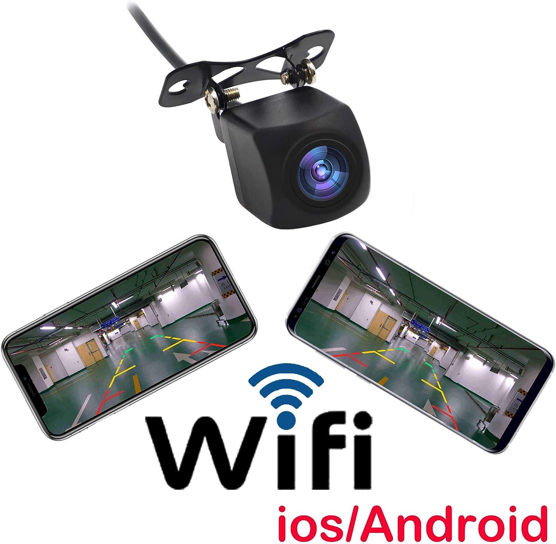 Drahtlos Kamera Auto R/ückfahrkamera R/ückfahrkamera Kamera WiFi Connect iPhone Android Handy Display
