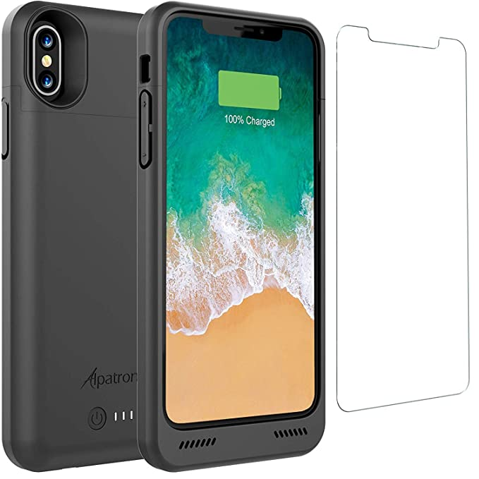 san francisco 8d54d bdc65 iPhone Xs/X Battery Case, Alpatronix BXX 4200mAh Qi Compatible Wireless  Portable Power Bank and iPhone Xs Slim Charger, 50% Faster Charging Battery  ...
