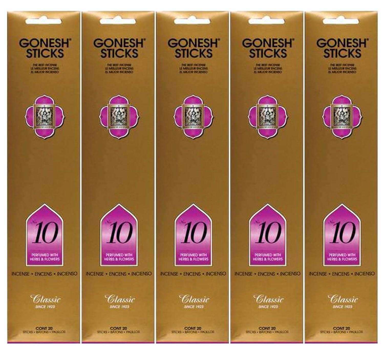 Gonesh Incense Sticks Extra Richコレクション – Number # 10 – 5パック(合計100 ) B078YCXVP1