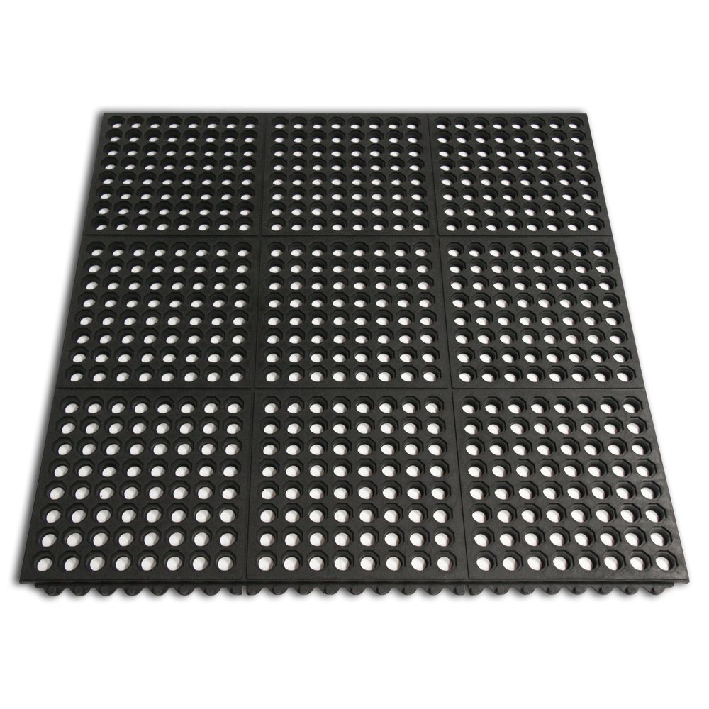 Rubber Mats For Kitchen Floor Amazoncom Rubber Cal 03 126 Int Wbk Dura Chef Interlock Anti