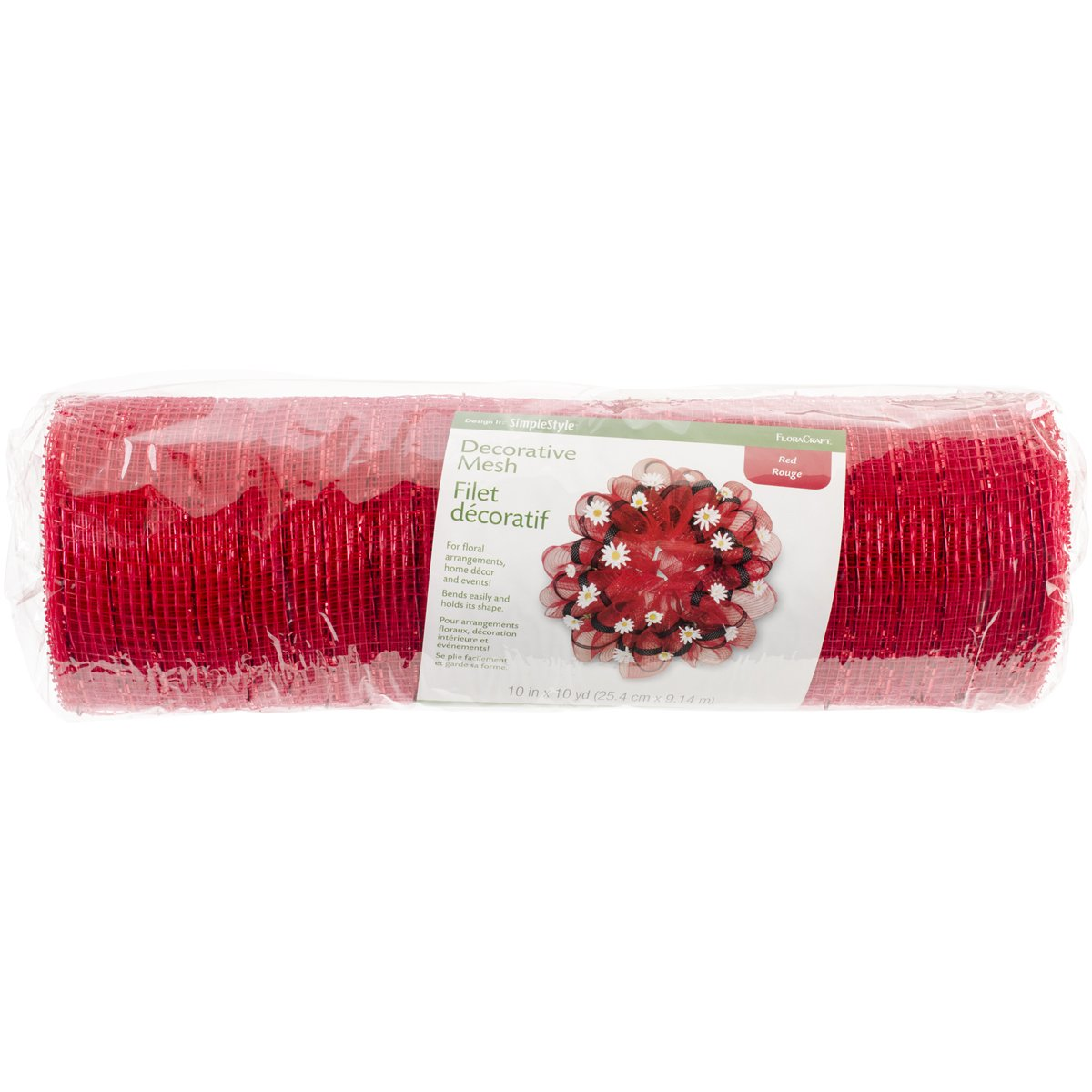 Floracraft Decorative Mesh Roll 10-inch x 10yd-Red, Other, Multicoloured Notions Marketing RS9714/6/4