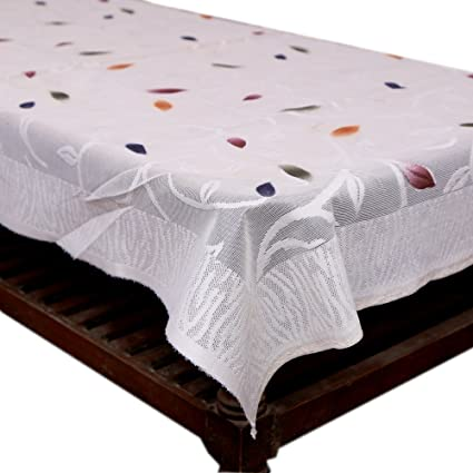 4b0146bda Buy Kuber Industries Floral Center Table Cover - White