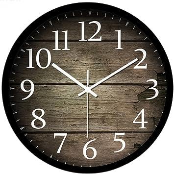 Uhr Modern vintage uhr wanduhr likeluk 12 zoll 30cm modern quartz lautlos