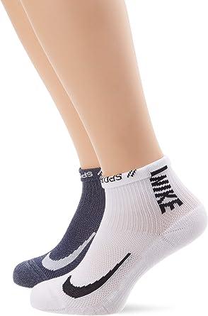 con tiempo Cabaña corte largo  Amazon.com : Nike Unisex Nike Multiplier Running Ankle Socks (2 Pair),  Multi-Color, Small : Clothing
