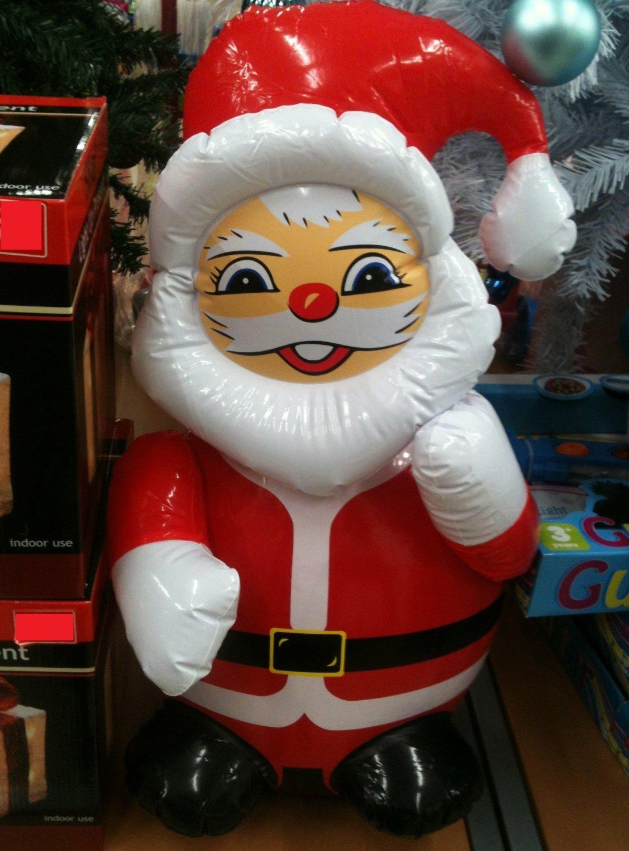 Diseño de decoración de Navidad de Papá Noel hinchable para ...