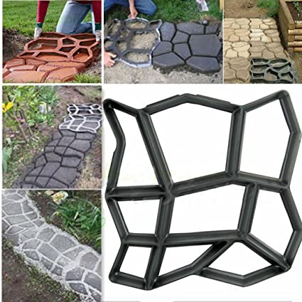 2X Footprint Stepping Stone Mold Concrete Cement Mould ABS Garden Path DIY NEW