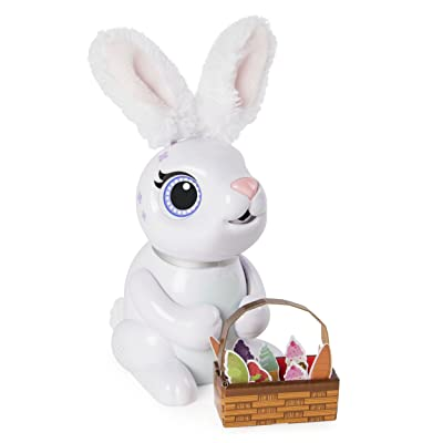 Zoomer Hungry Bunnies, Chewy, Interactive Robotic Rabbit that Eats, for Ages 5 and Up: Toys & Games