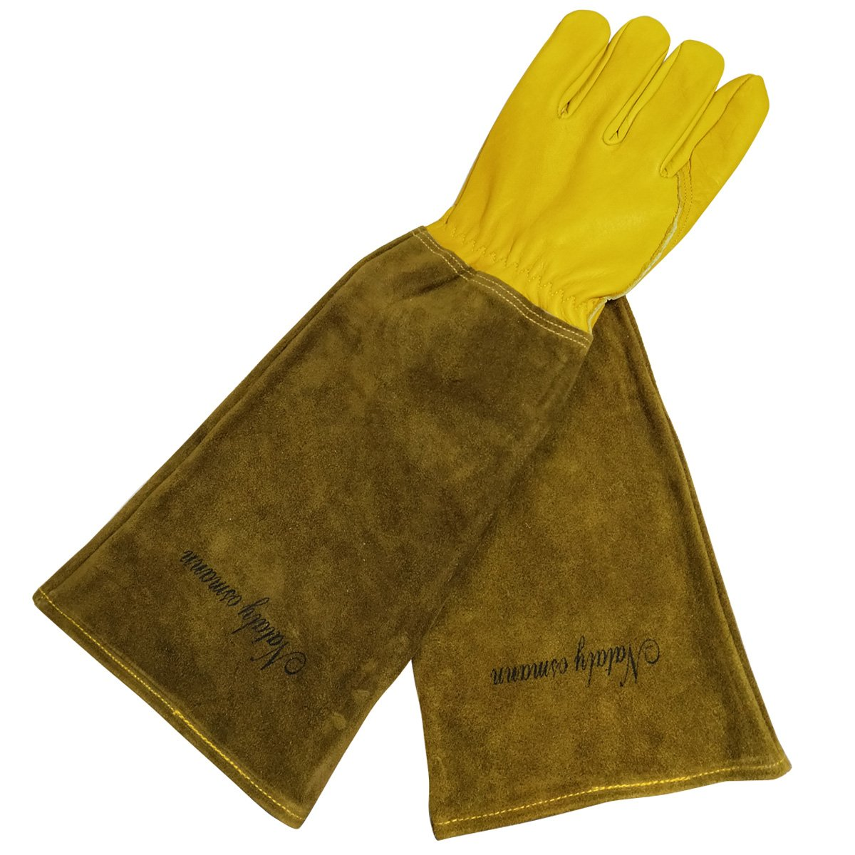 Nataly Osmann Garden Gloves,Yard Work, Thorn & Cut Proof Long Gardening Gloves, Premium Cowhide Gloves Puncture Resistant