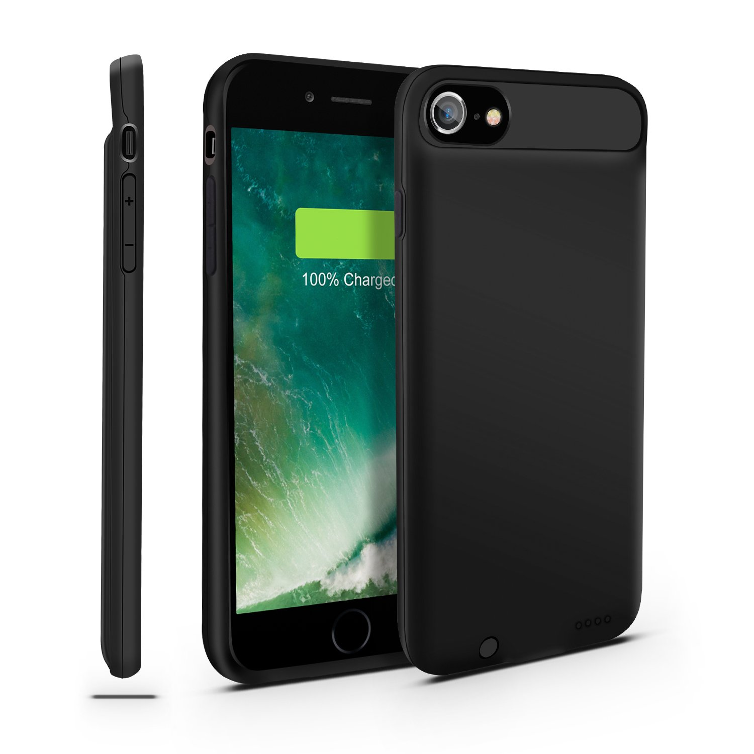 iPhone 7/8 Battery Case, Gright [Can Support Lightning to Lightning Earphone/Microphone] Ultra Slim Portable Charger iPhone 7 (4.7 inch) Charging Case,Extended Battery Pack Juice Bank Cover